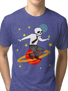 Space Office Skeleton Tri-blend T-Shirt