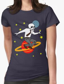 Space Office Skeleton Womens Fitted T-Shirt