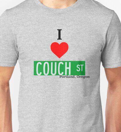 I Love Couch Street, Portland Oregon Unisex T-Shirt