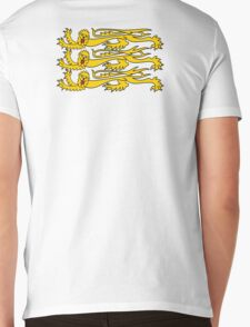 Royal Banner of England, Heraldry, Team, Sport, Three Lions, 3 Lions, History, Blighty, English, British, UK Mens V-Neck T-Shirt