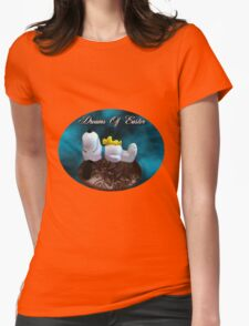 DREAMS OF EASTER..SNOOPY...WOODSTOCK..EASTER EGG..PILLOW,TOTE BAG,PICTURES..ECT... Womens Fitted T-Shirt