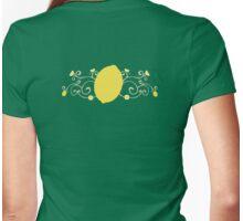 Lemon Swirl Graphic Womens Fitted T-Shirt