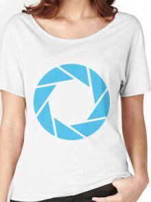 Aperture Science (Blue) Women's Relaxed Fit T-Shirt