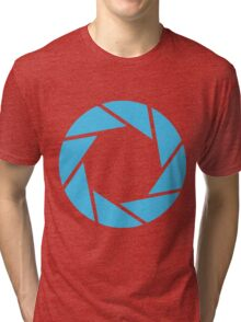 Aperture Science (Blue) Tri-blend T-Shirt