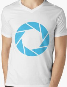 Aperture Science (Blue) Mens V-Neck T-Shirt