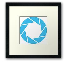 Aperture Science (Blue) Framed Print