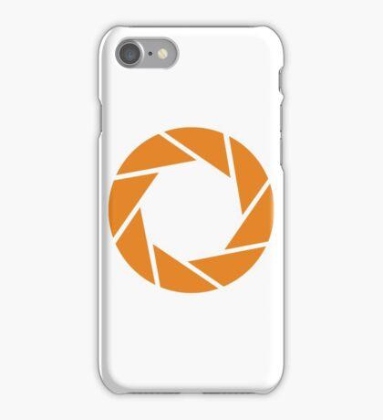 Aperture Science (Orange) iPhone Case/Skin