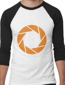 Aperture Science (Orange) Men's Baseball ¾ T-Shirt