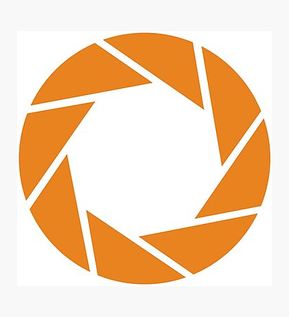 Aperture Science (Orange) Photographic Print