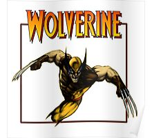 Wolverine attack 80's  Poster