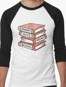 Smart Guys Read Books - book lover gift inspirational quote Men's Baseball ¾ T-Shirt