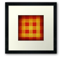 Red and yellow squares pattern Framed Print