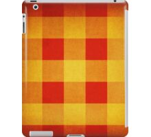 Red and yellow squares pattern iPad Case/Skin