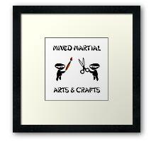 Mixed Martial Arts Crafts Framed Print