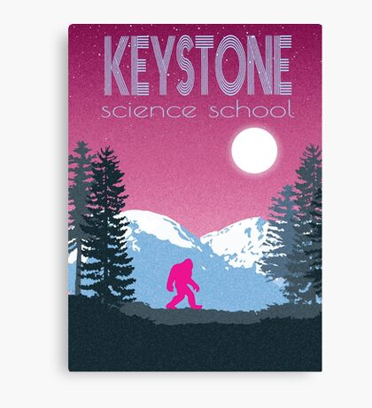 Keystone Science School Travel Poster Canvas Print