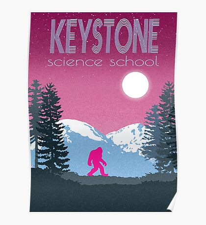 Keystone Science School Travel Poster Poster