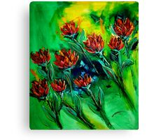 Flying Flowers  Canvas Print