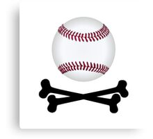 Pirate Baseball Canvas Print