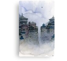 gray moon Canvas Print