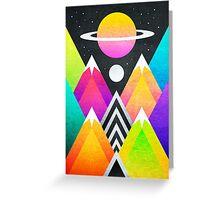 Saturn Peaks Greeting Card
