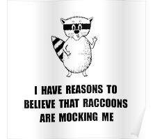 Raccoons Mock Poster
