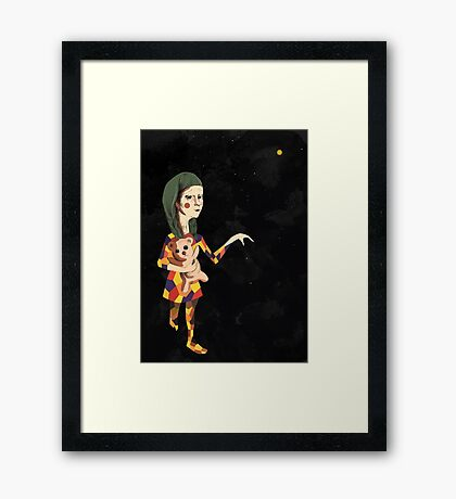 Stars Girl Framed Print