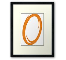 Orange Portal Framed Print