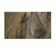 Fishing nets drying in the wind Art Print