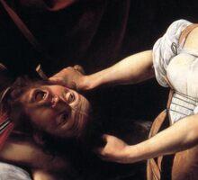 Judith Beheading Holofernes by Caravaggio Sticker