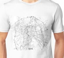 Rome City Map Gray Unisex T-Shirt