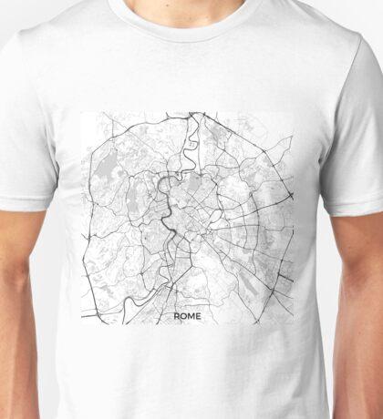 Rome City Map Gray Unisex T-Shirt