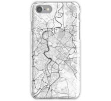 Rome City Map Gray iPhone Case/Skin