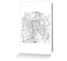 Rome City Map Gray Greeting Card