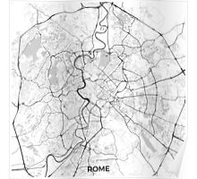 Rome City Map Gray Poster