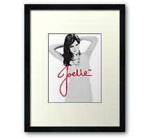 Joelle Black & White Blue Necklace Signature Framed Print