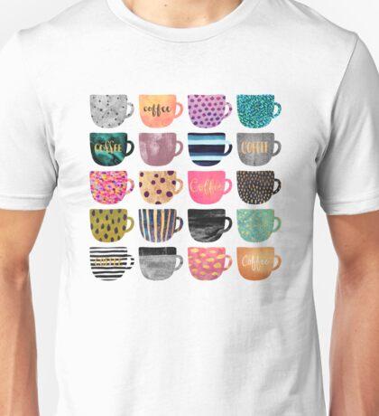 Pretty Coffee Cups Unisex T-Shirt