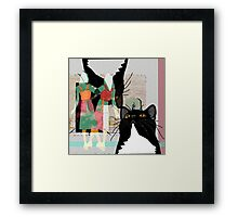 Kats at the Museum or Doppelganger Party! Framed Print