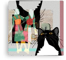 Kats at the Museum or Doppelganger Party! Canvas Print