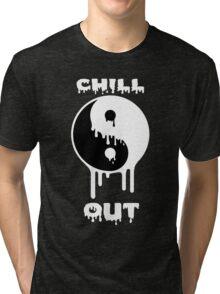 Chill Out Yin Yang (white) Tri-blend T-Shirt