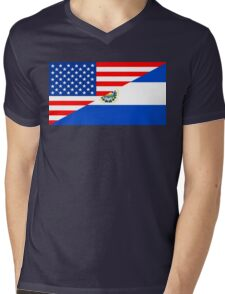 usa el salvador half flag Mens V-Neck T-Shirt