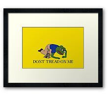 dont tread on pepe Framed Print