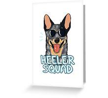 HEELER SQUAD (blue) Greeting Card