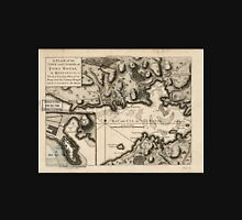 American Revolutionary War Era Maps 1750-1786 248 A plan of the town and citadel of Fort Royal in Martinico the last landing place of our army and the country Unisex T-Shirt
