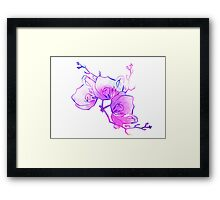 ink watercolour flower Framed Print