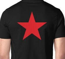 Red Star, STAR, Stardom, Power to the people! Red Dwarf, Stellar, Cosmic, on BLACK Unisex T-Shirt