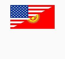 usa Kyrgyzstan half flag Unisex T-Shirt