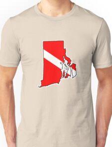 Dive flag Rhode Island outline T-Shirt