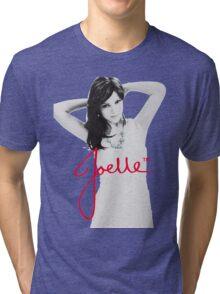 Joelle Black & White Blue Necklace Signature Tri-blend T-Shirt