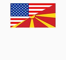 usa macedonia half flag Unisex T-Shirt