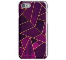 Purple Stone / Gold Lines iPhone Case/Skin